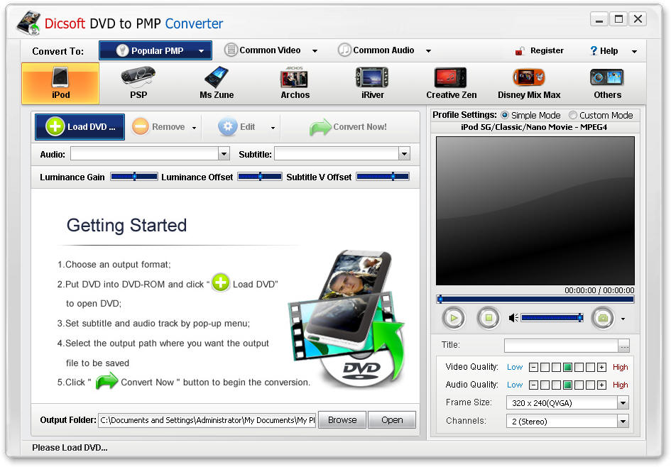 Dicsoft DVD to PMP Converter 3.5.0.2